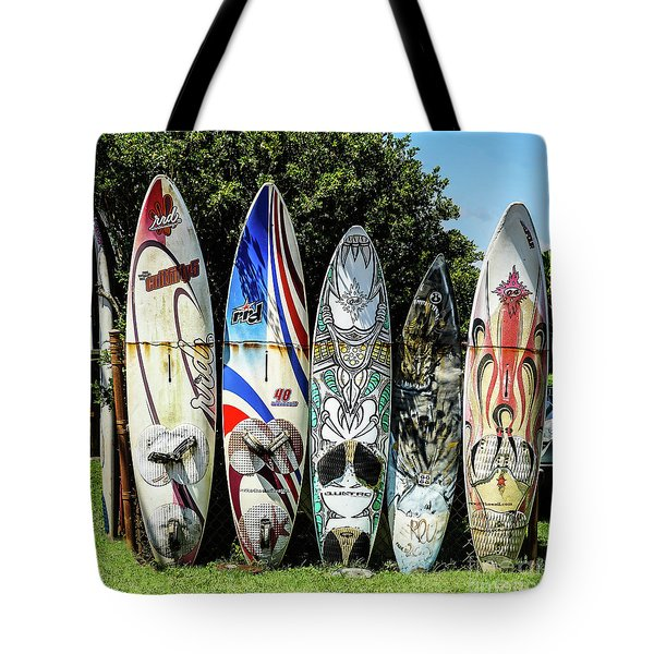Surfboard Hana Maui Hawaii Tote Bag