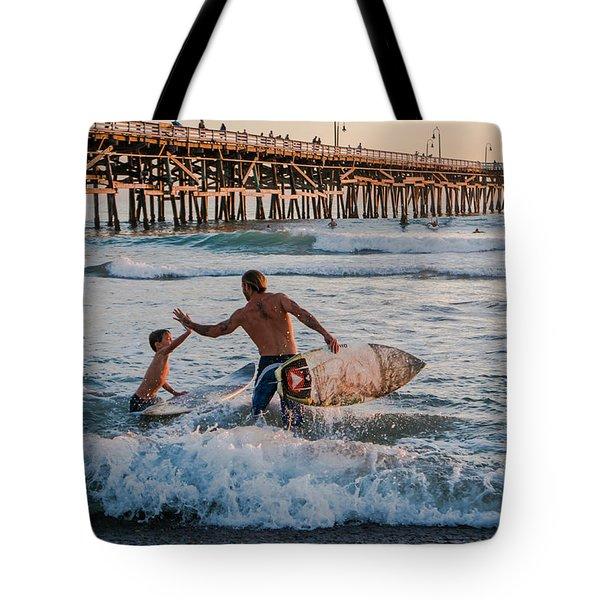 Surfboard Inspirational Tote Bag