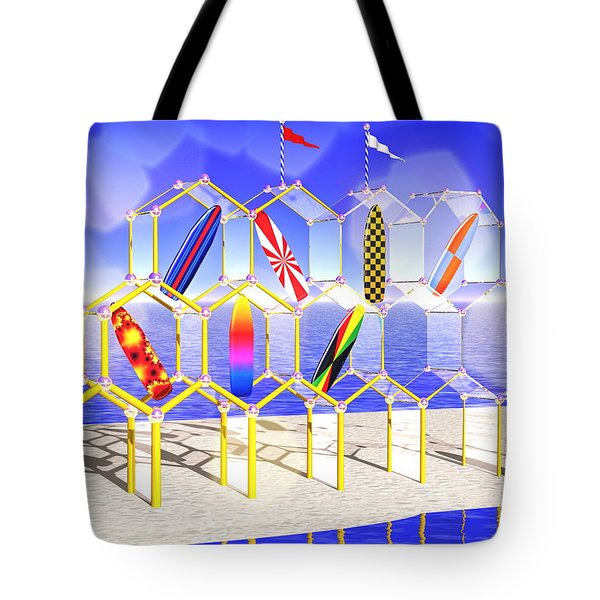 Surfboard Palace Tote Bag