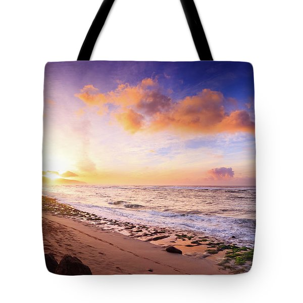 Tote Bag featuring the photograph Surfer At Sunset by Geoffrey C Lewis