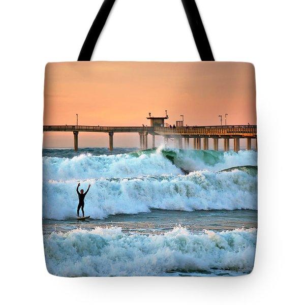 Surfer Celebration Tote Bag