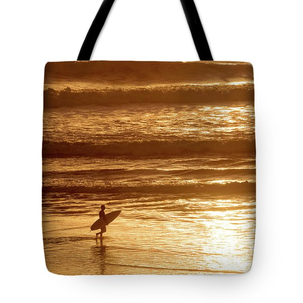 Tote Bag featuring the photograph Surfer by Delphimages Photo Creations