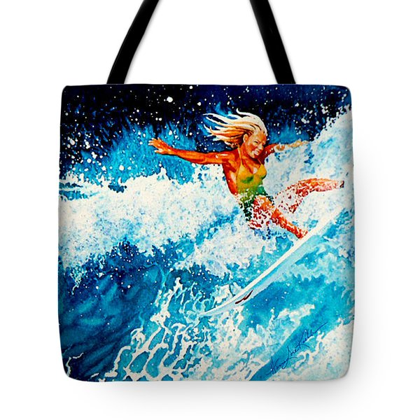 Surfer Girl Tote Bag by Hanne Lore Koehler