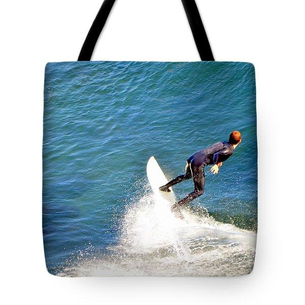 Surfer, Steamer Lane, Santa Cruz, Series 19 Tote Bag by Antonia Citrino