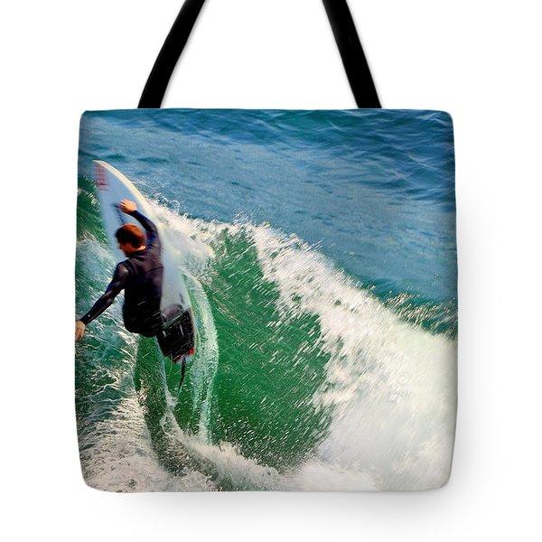 Surfer, Steamer Lane, Series 18 Tote Bag by Antonia Citrino