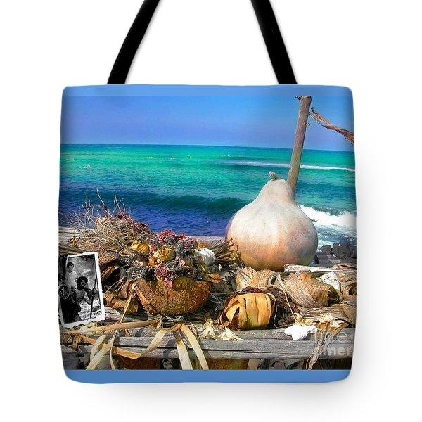 Surfer's Altar Tote Bag