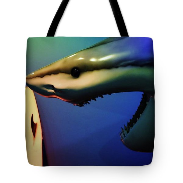 Surfers Beware Tote Bag