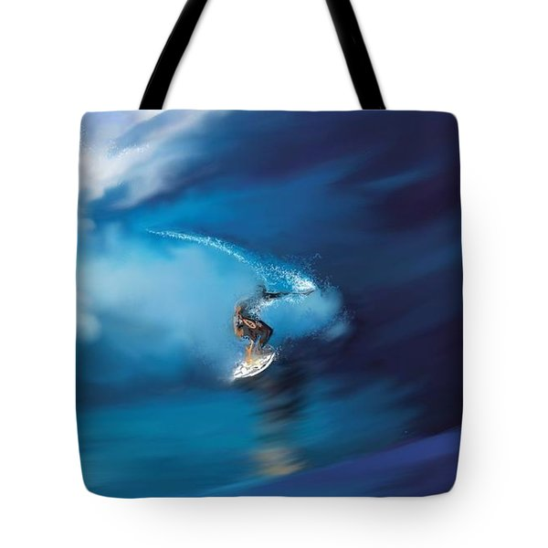 Surfers Playground Tote Bag by Anthony Fishburne