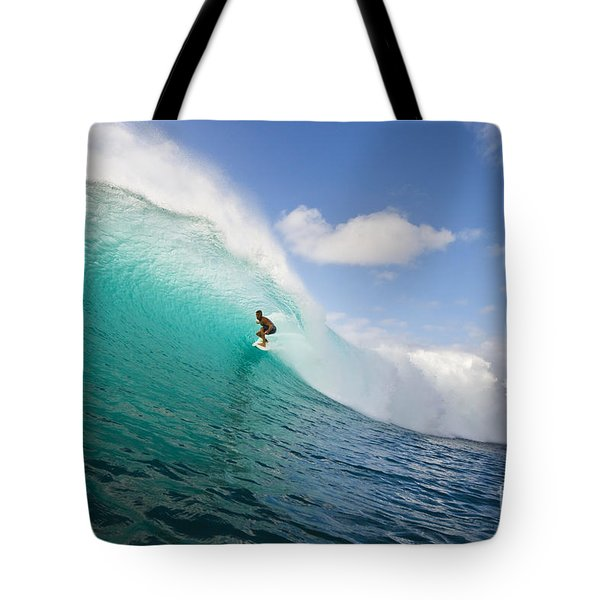 Surfing At Honolua Bay Tote Bag