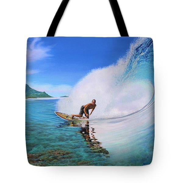 Surfing Dan Tote Bag
