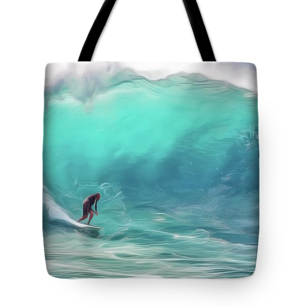 Surfing Tote Bag