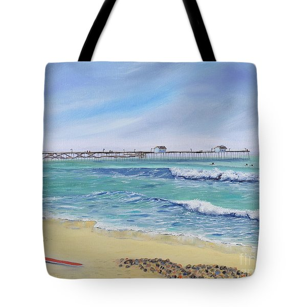 Surfing In San Clemente Tote Bag
