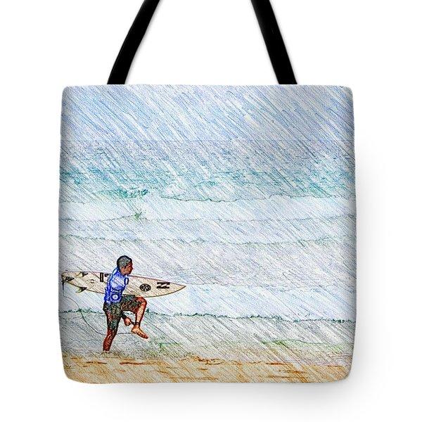 Surfer In Aus Tote Bag by Daisuke Kondo