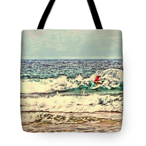 People On The Wave Tote Bag by Daisuke Kondo