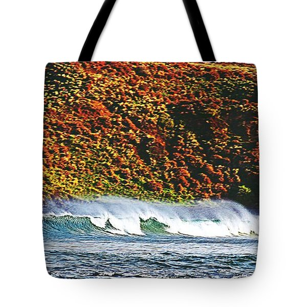 Surfing The Island Tote Bag