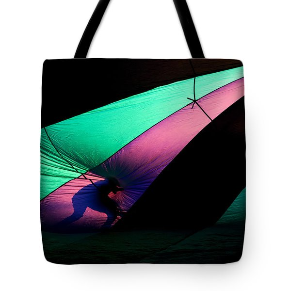 Surfing The Silk Tote Bag by Mike  Dawson