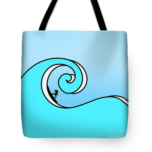 Surfing The Wave Tote Bag