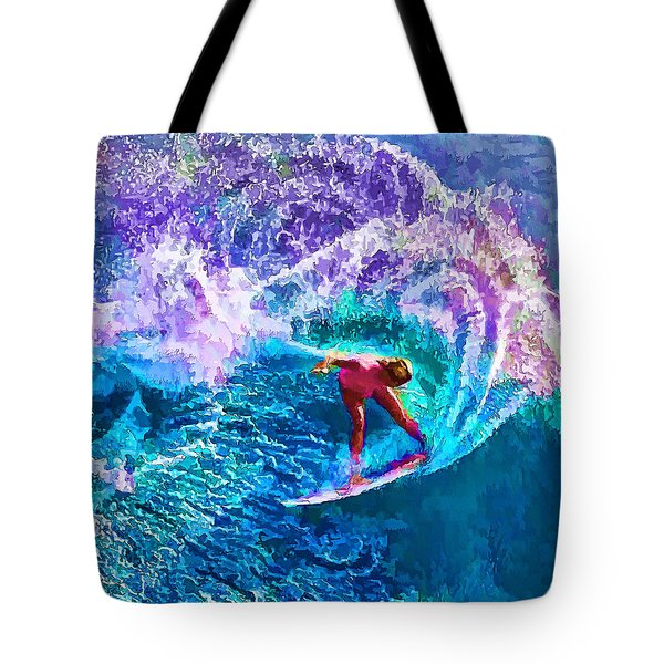 Surfs Like A Girl 1 Tote Bag by ABeautifulSky Photography