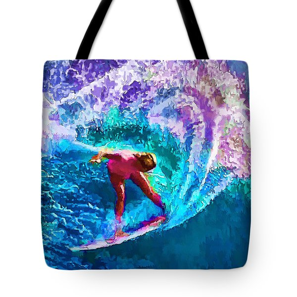 Surfs Like A Girl 2 Tote Bag by ABeautifulSky Photography