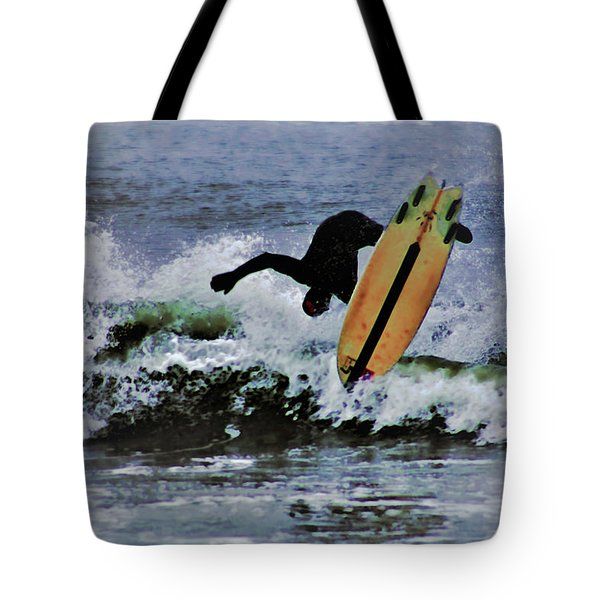 Tote Bag featuring the photograph Surfs Up by B Wayne Mullins