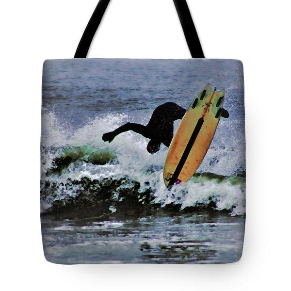 Surfs Up Tote Bag by B Wayne Mullins
