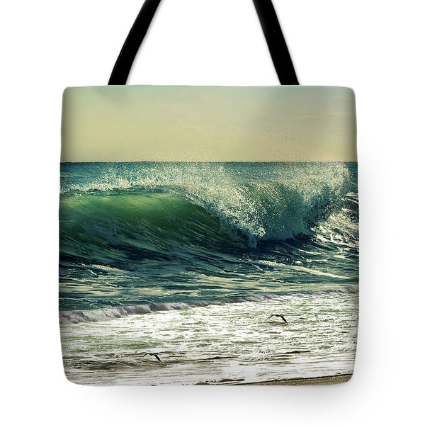 Tote Bag featuring the photograph Surf's Up by Laura Fasulo