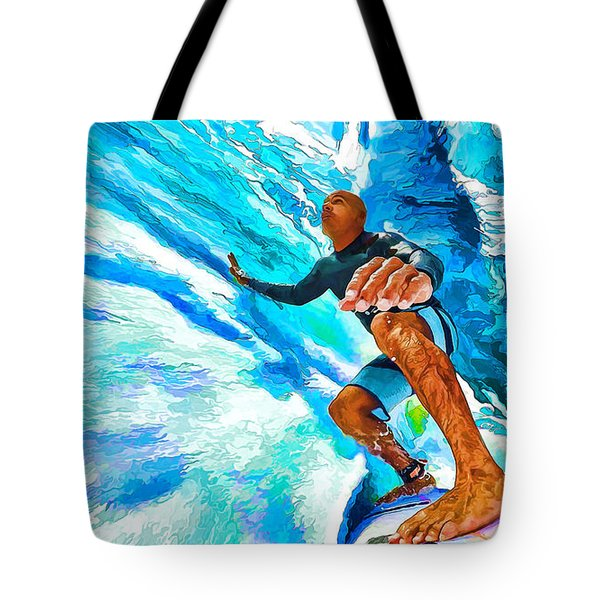 Surf's Up With Kelly Slater Tote Bag by ABeautifulSky Photography