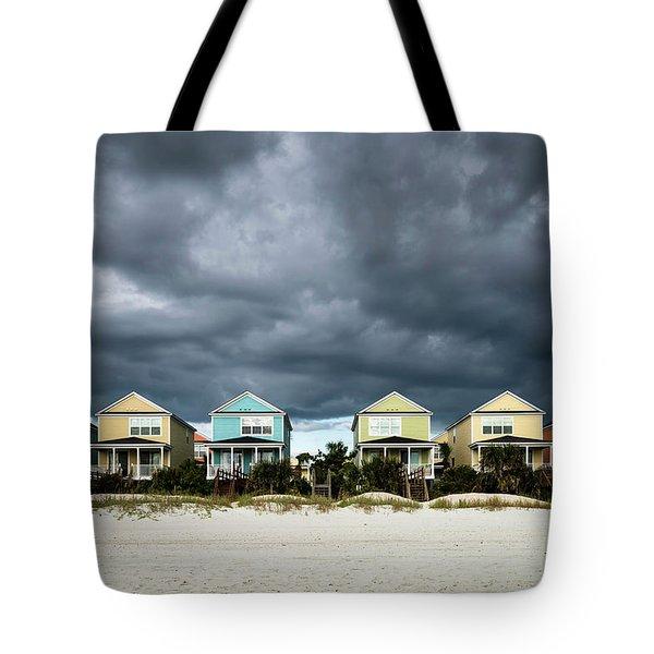 Surfside Beach Houses Tote Bag