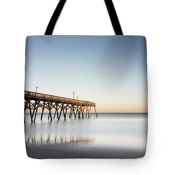 Surfside Beach Pier Mathew Aftermath Tote Bag