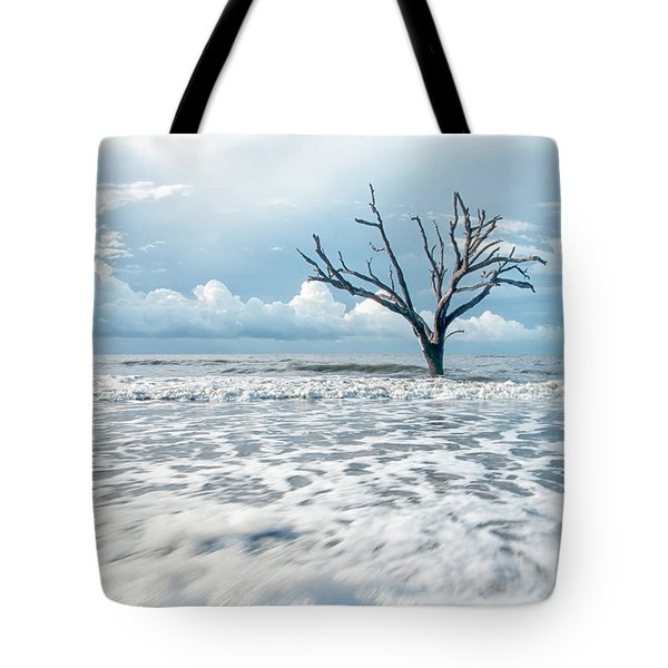 Tote Bag featuring the photograph Surfside Tree by Phyllis Peterson