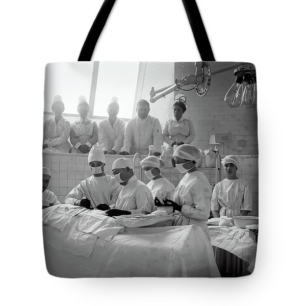 Tote Bag featuring the photograph Surgery Theater C. 1917 by Daniel Hagerman