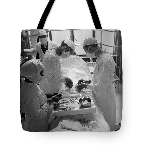 Tote Bag featuring the photograph Surgical Theater - Chicago 1941 by Daniel Hagerman
