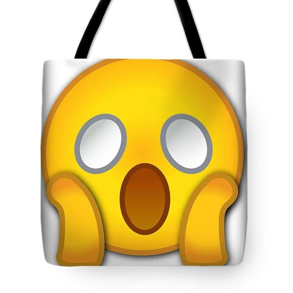 Surpriesd Smiley Tote Bag