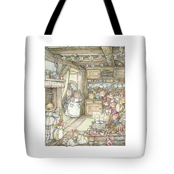 Surprise At Mayblossom Cottage Tote Bag