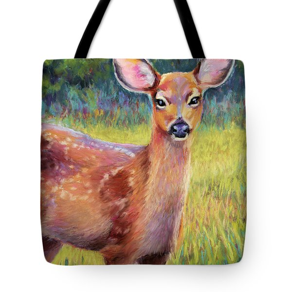 Surprise Encounter Tote Bag