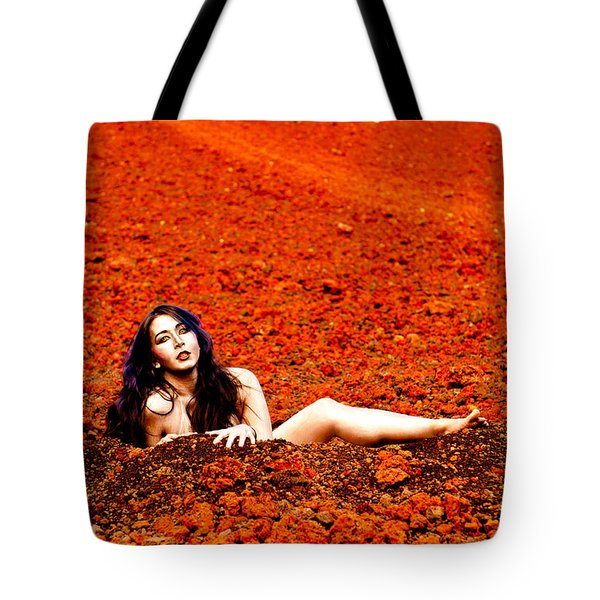Surprised Martian Hatching Tote Bag