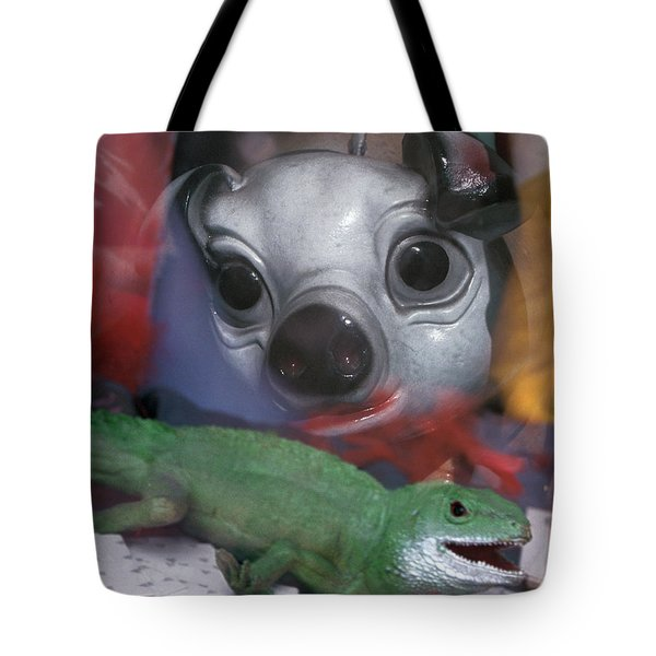 surreal animals fantasy art - Animal House Tote Bag