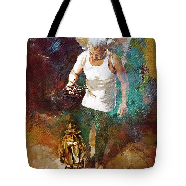 Tote Bag featuring the painting Surreal Art  by Gull G