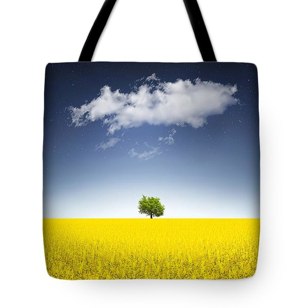 Surreal Canola Field Tote Bag