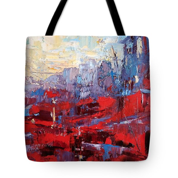 Surreal City Tote Bag by NatikArt Creations