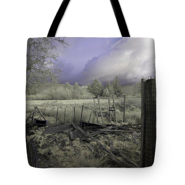 Surreal Cloud And Pasture Tote Bag