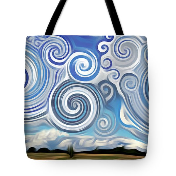 Surreal Cloud Blue Tote Bag