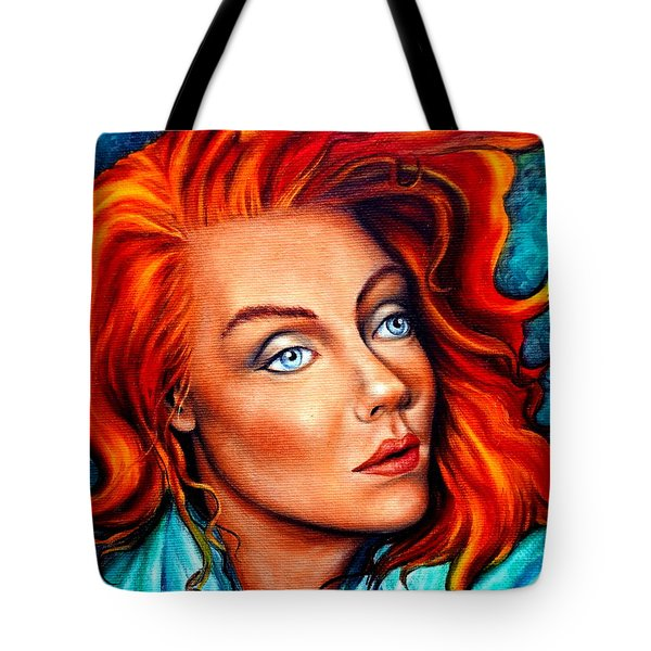 Surreal Crimson And Silk Tote Bag