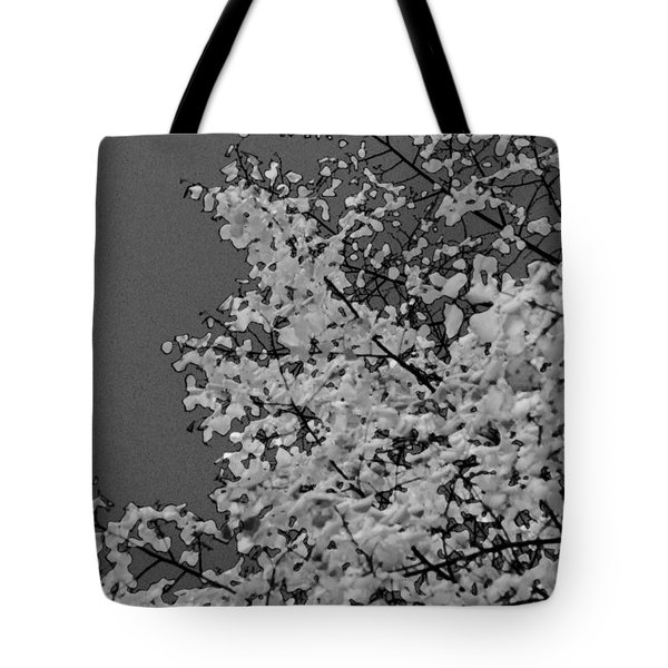 Surreal Deconstruction Of Fall Foliage In Noir Tote Bag