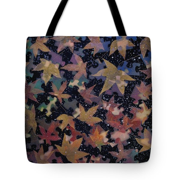 surreal landscape with autumn leaves - Autumn Sky Tote Bag