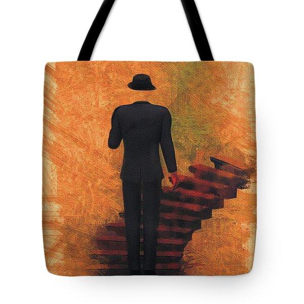 Surreal Stairway Tote Bag