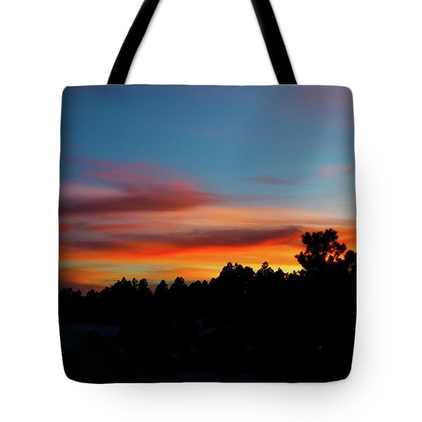 Tote Bag featuring the photograph Surreal Sunset by Jason Coward