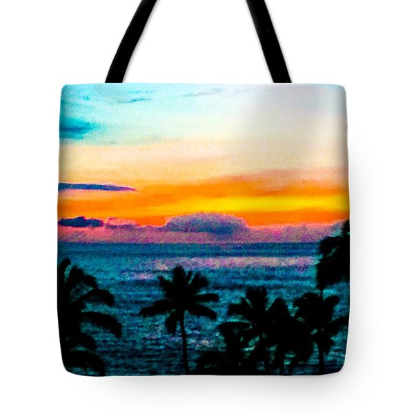 Surreal Sunset Tote Bag