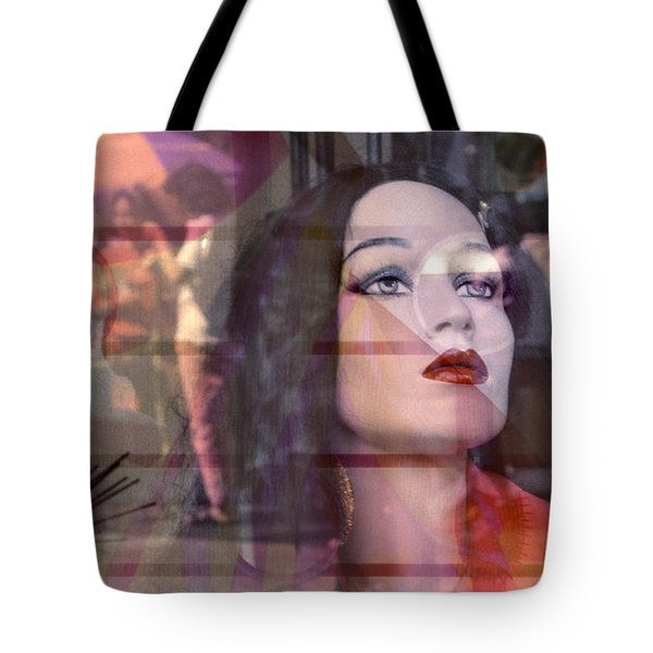 surrealism cities street scene photography - Snow White Tote Bag