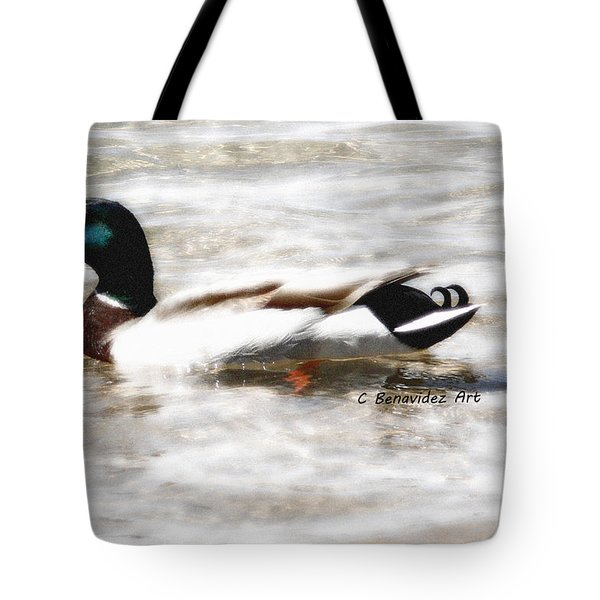 Surrealism Duck Tote Bag